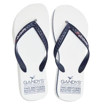 Gandys Kynite White Original flip flops