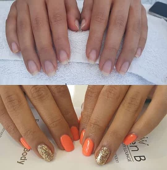 gel nail after care Natural Nails before and after Queen B
