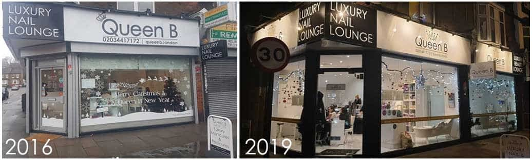 queen b croydon exterior before after 2019
