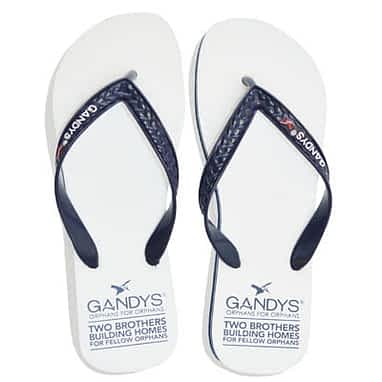 Gandys Kynite White Original flip flops