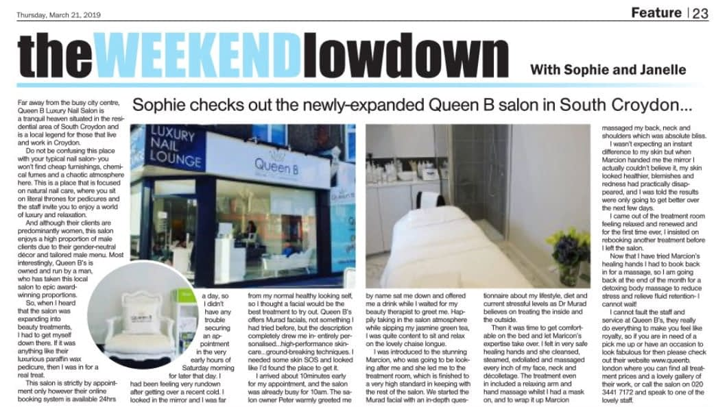 Queen B Featured In The Croydon Guardian For Our Beauty Space